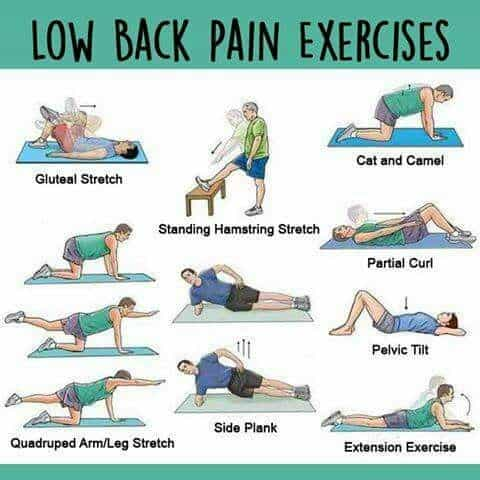 lower back pain can be a direct result of tight hamstrings. One east remedy is low back pain exercises