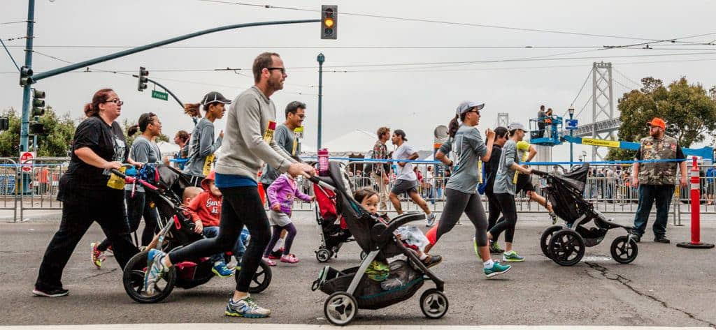 Running with a stroller in a 5K race can be stressful. It's one of the top 10 reasons why you should run a Virtual 5K instead.