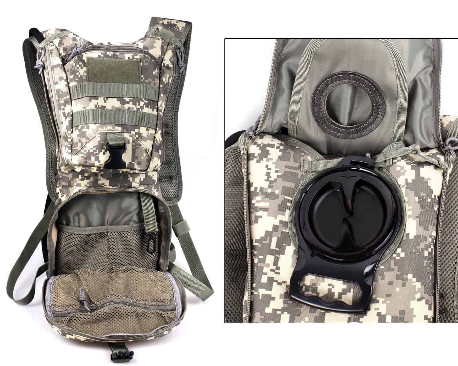 Tactical Hydration Pack with a 2.5L Hydration Bladder