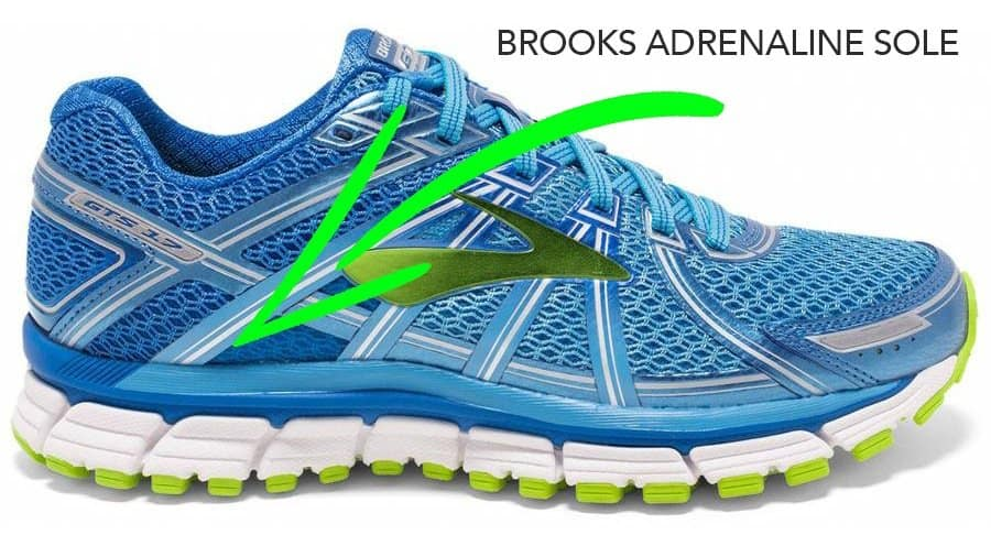 Brooks Adrenaline sole