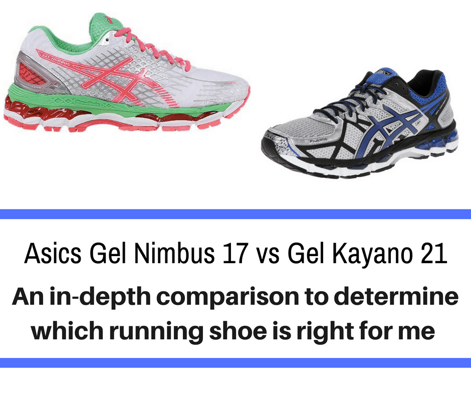 Choosing the right running shoe can be a shot in the dark. Two of the top lines of shoes come from the Asics brand To help you narrow it down, this article puts two of the best models in a head to head battle - Asics Gel Nimbus 17 vs Kayano 21