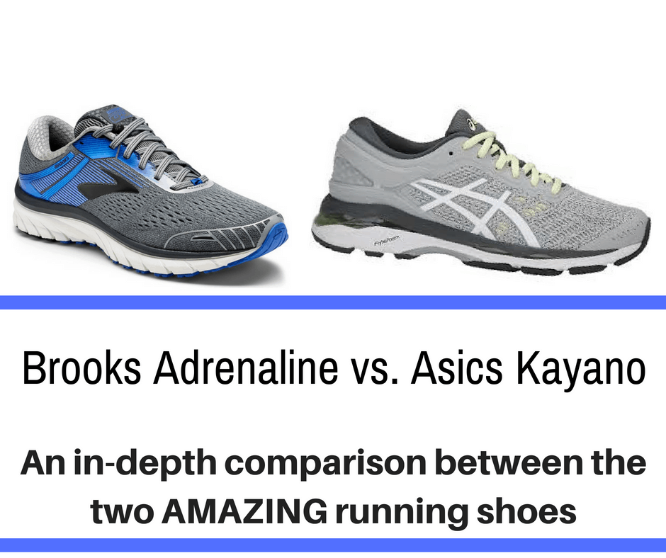 A full detailed analysis of Brooks Adrenaline vs Asics Kayano, here are the main differences of these very popular running shoes..